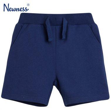 Трикотажни бермуди с джобове тъмно сини от Newness