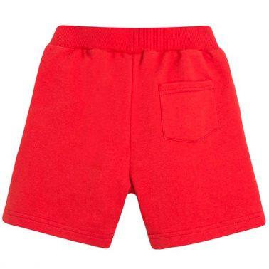 Трикотажни бермуди Newness в червено с джобове