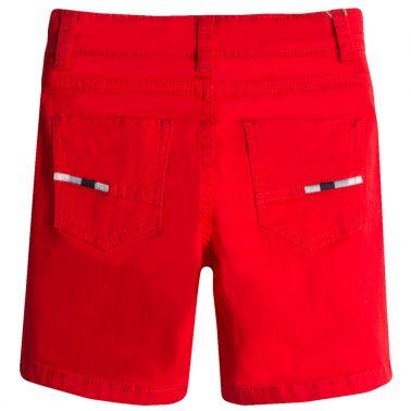 Бермуди в наситено червено с джобове от Newness