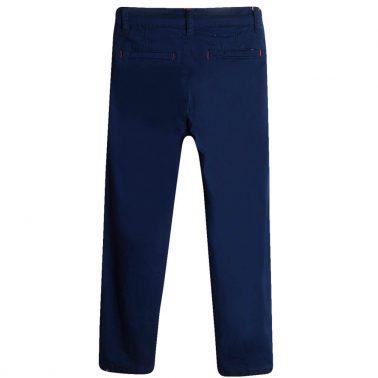 Панталон Newness в тъмно синьо с цветни тегели