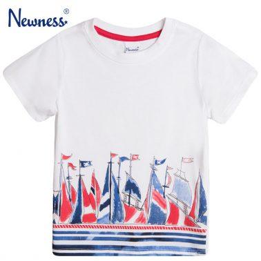 Тениска Newness с щампа платноходки бяла
