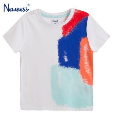 Бяла тениска с цветни балони от Newness