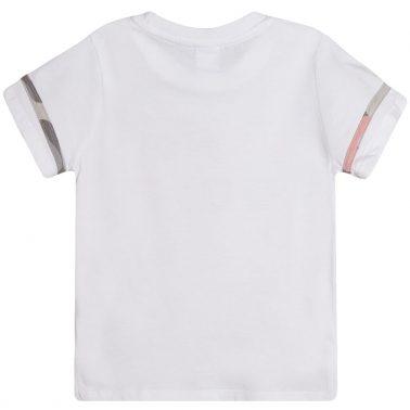 Тениска в бяло с цветен надпис от Newness