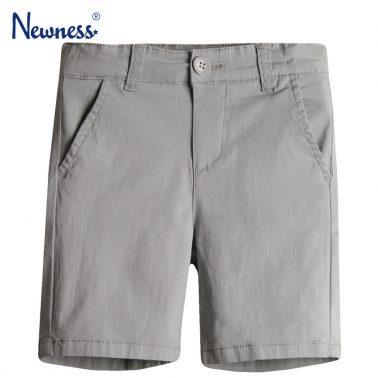 Стилни бермуди Newness в светло сиво с италиански джоб