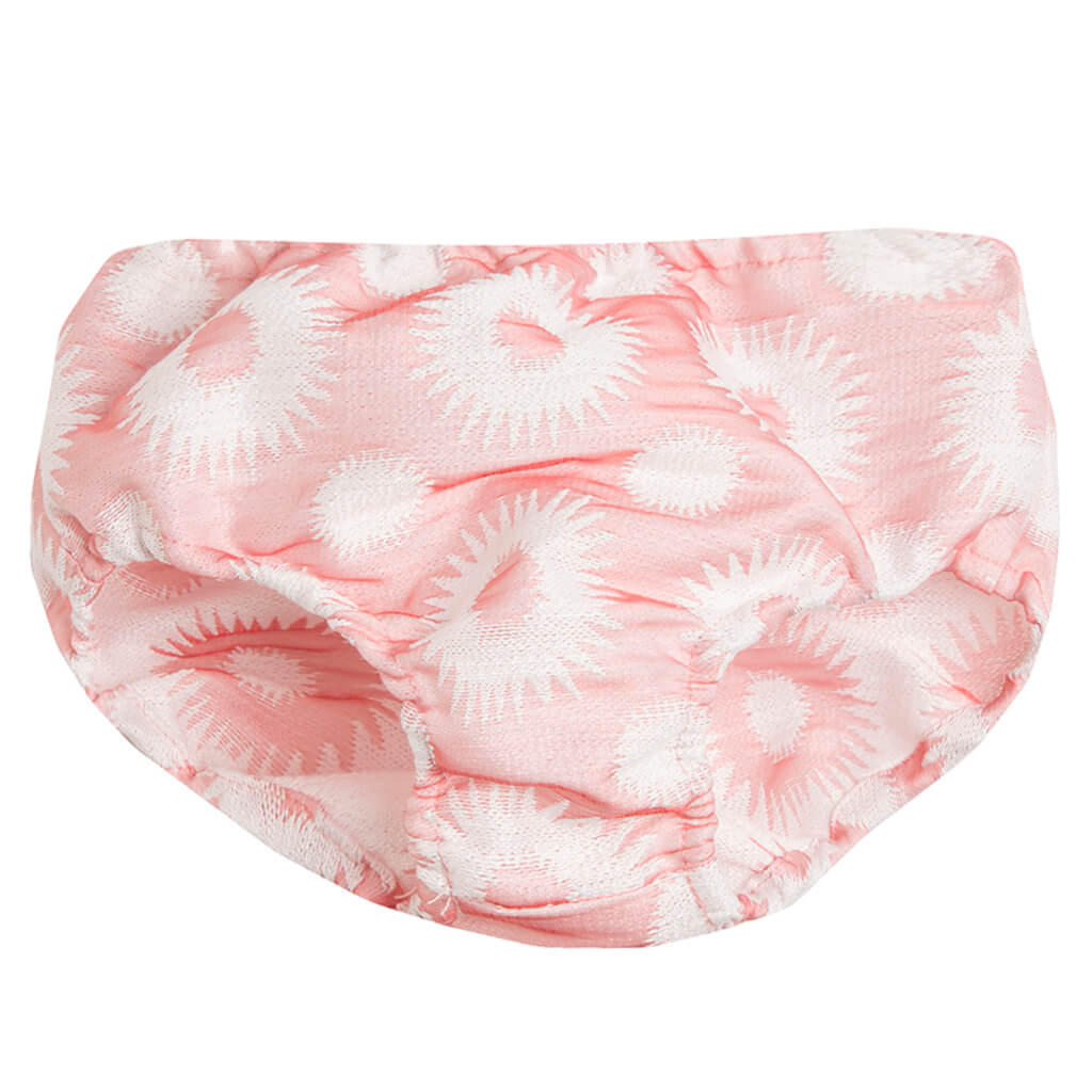 Елегантен сет Newness с рокля и гащи от тафта на слънца в розово