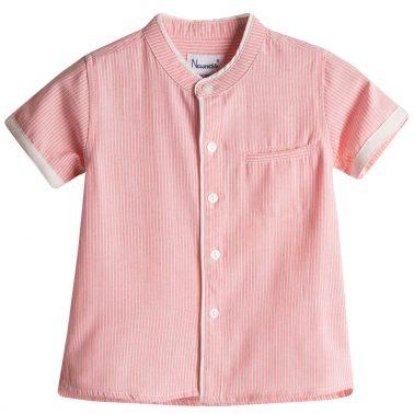 Елегантен сет Newness с риза на розови райета и панталонки