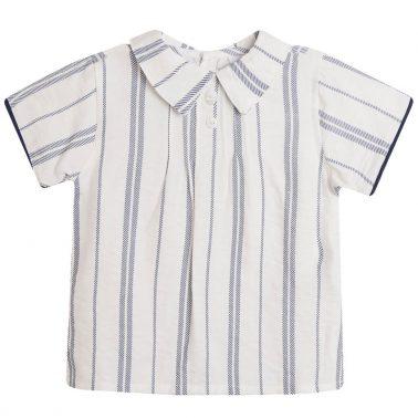 Сет Newness с риза на райета и къси панталонки в тъмно синьо