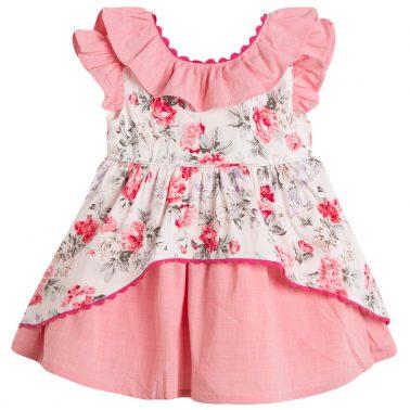 Сет Newness от рокля и гащи в розово с флорални мотиви