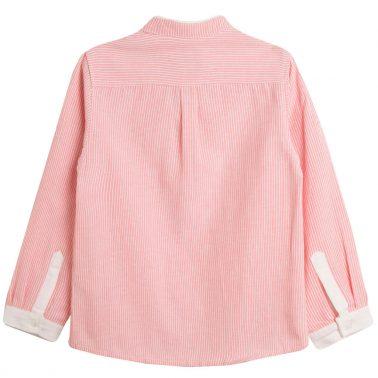 Риза на розови райета Newness със столче яка
