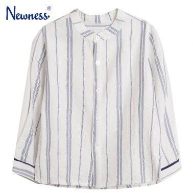 Елегантна риза на райета Newness в бяло