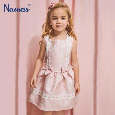 Бляскава рокля Newness в розово с ламе и панделки