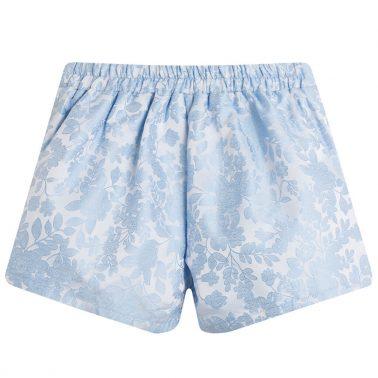 Луксозни къси панталонки с панделки от Newness в синьо