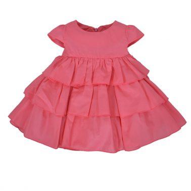 Сет рокля с волани и гащи балон в цвят малина
