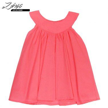 Ефирна рокля в малинов цвят с платка