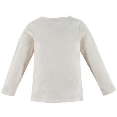 Блуза Pebble Stone в бяло с ананас от пайети