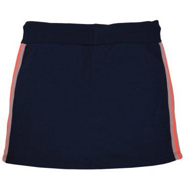 Пола с цветен кант и джобове от Pebble Stone тъмно синя