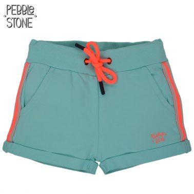 Къси панталонки с цветен кант от Pebble Stone в резеда
