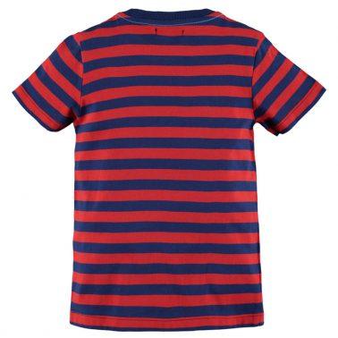 Тениска на червени райета с щампа от Pebble Stone