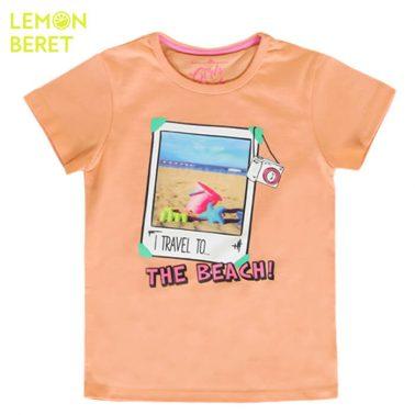 Тениска с променяща се снимка в прасковен цвят от Lemon Beret