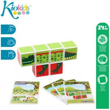 Магнитни кубчета с животни 6 броя в кутия