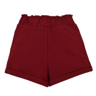 Детски есенно-зимни къси панталони с джобове бордо