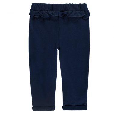 Бебешко долнище с джобове и къдрички тъмно синьо