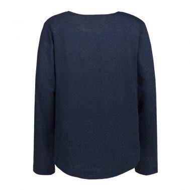 Детска блуза с надпис с пайети ОК тъмно синя
