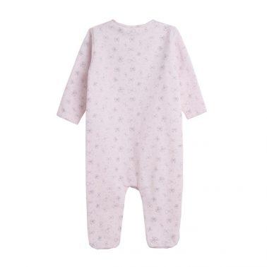 Бебешки цял гащеризон покрит с панделки в розово