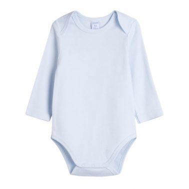 Комплект 3 броя бебешко боди с дълги ръкави бял