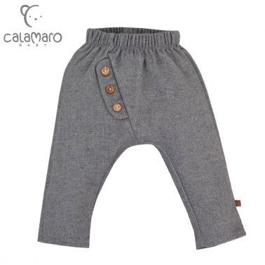 Елегантен бебешки панталон тип потур с копчета в сиво