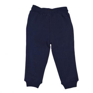 Детско ватирано долнище с джобове и връзка в тъмно синьо
