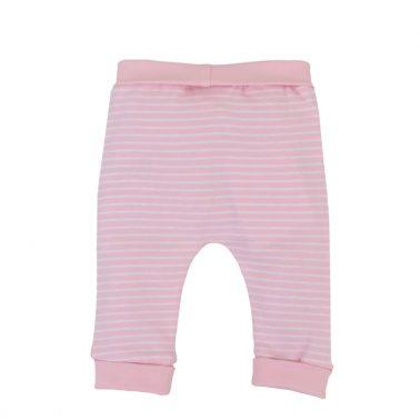Бебешко долнище с бродерия от органичен памук в розово