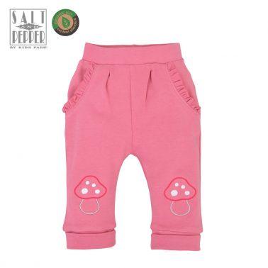 Бебешко долнище с гъбки в розово