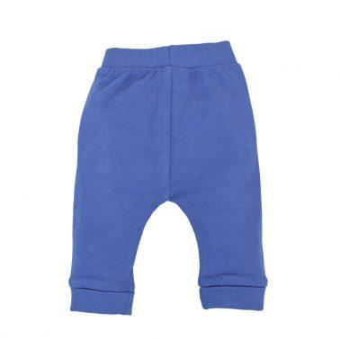Бебешко долнище от органичен памук с гъбка в синьо