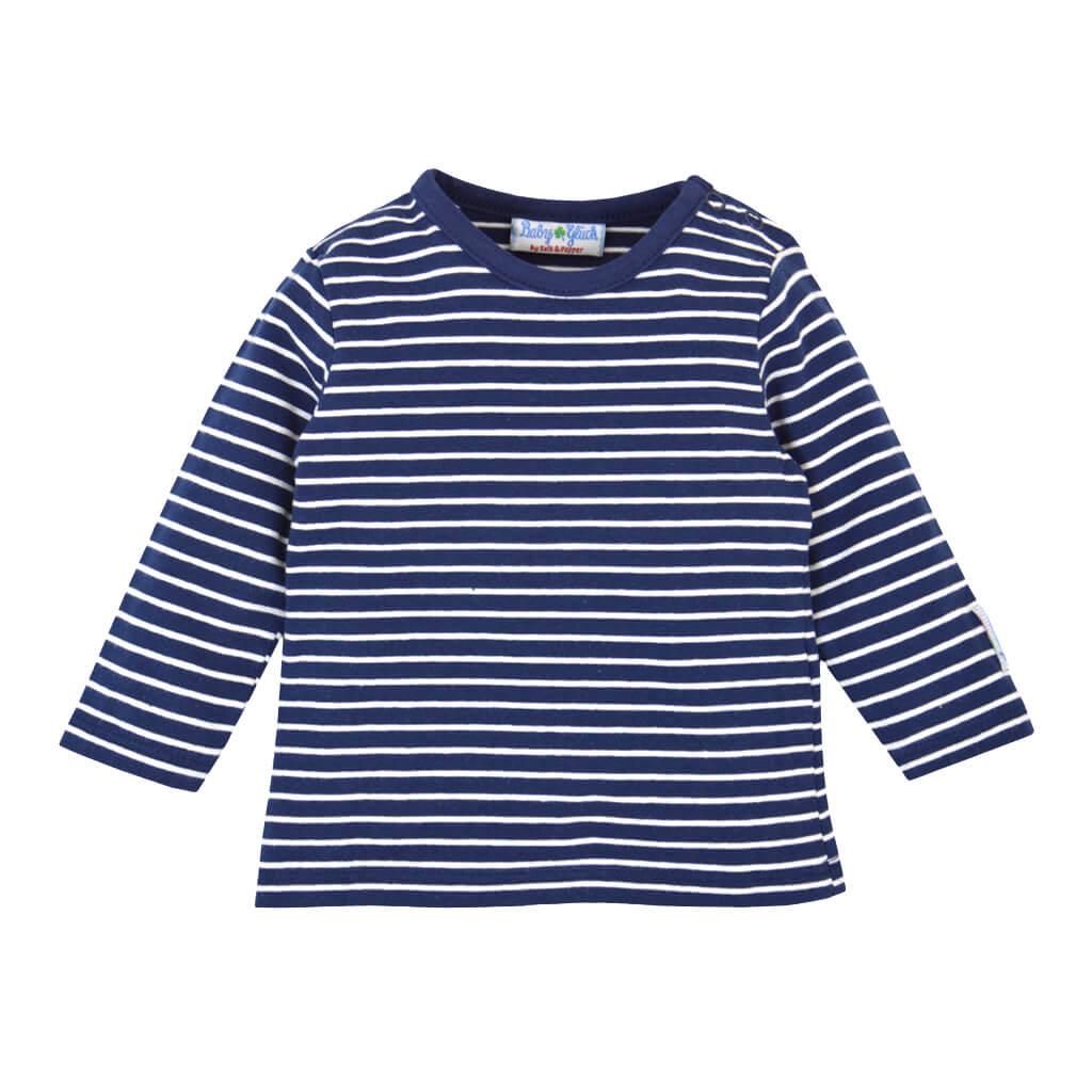 Бебешки комплект гащеризон и блуза с дълги ръкави от органичен памук тъмно син