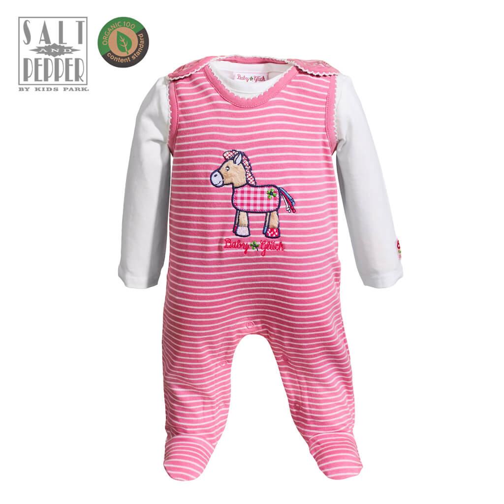 Бебешки комплект с гашеризон и блуза от органичен памук в розово