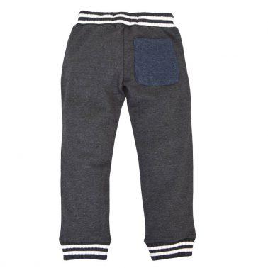 Детско долнище с джобове и връзки тъмно сиво