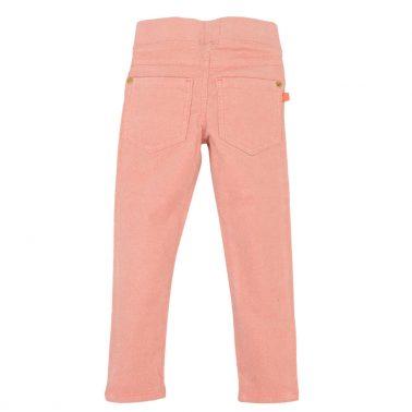 Детски кадифен панталон с блестящо ламе в розово