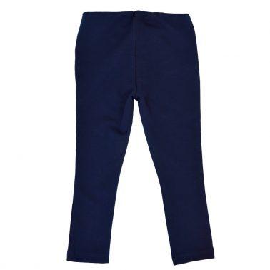 Детски еластичен панталон - клин с копчета в тъмно синьо