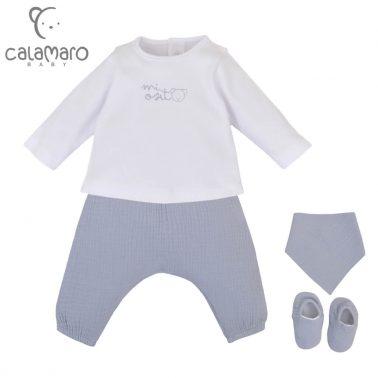 Луксозен бебешки комплект за новородено с 4 части в синьо
