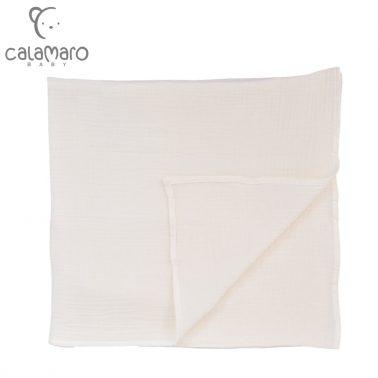Бебешка памучна пелена от крепон 125 х 120 см екрю