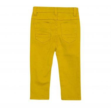 Бебешки елегантен панталон с копче в жълто