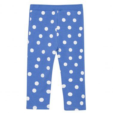 Бебешки клин в синьо на бели точки