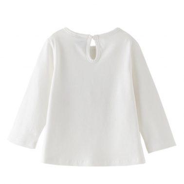 Бебешка блуза със сърца от тюл бяла