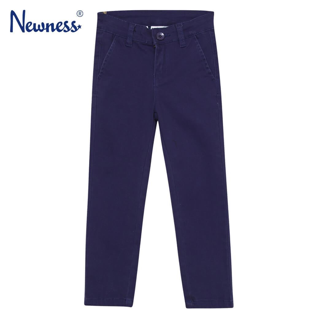 Официален детски прав панталон в тъмно синьо