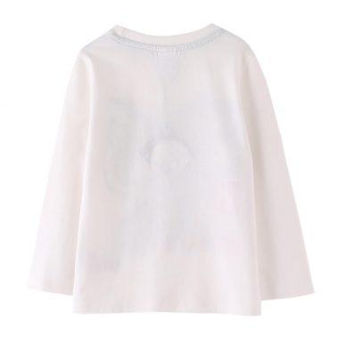 Детска блуза с дълги ръкави с принт тигър бяла