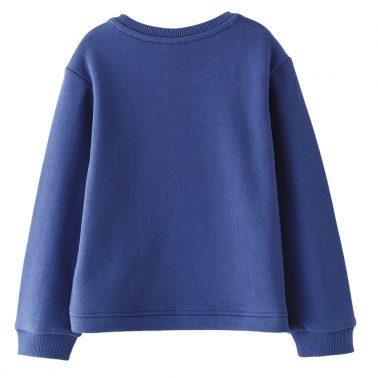 Детска ватирана блуза с апликация Lady Girl в тъмно синьо