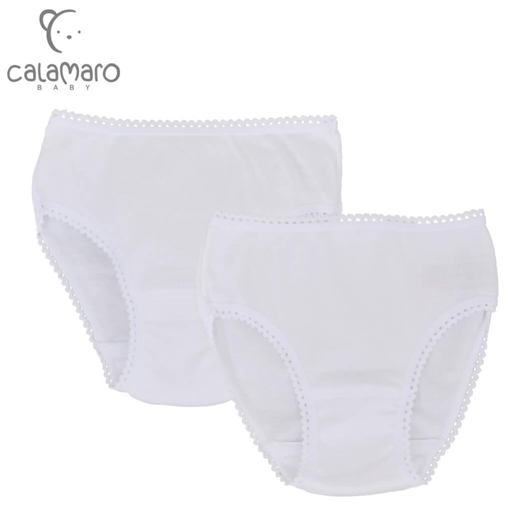 Комплект 2 броя детски рипсени бикини в бяло