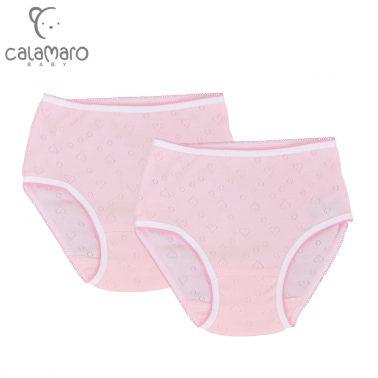 Комплект 2 броя детски бикини на сърца в розово