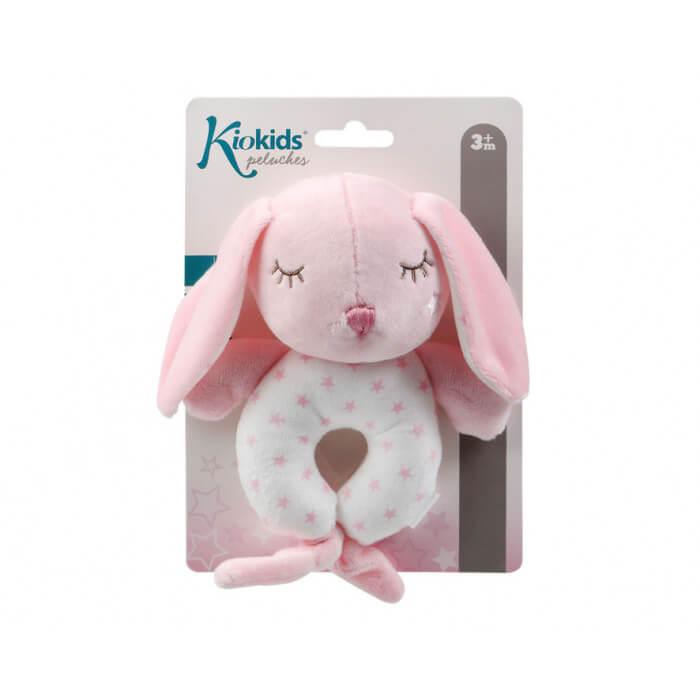 Бебешка играчка плюшено зайче в розово